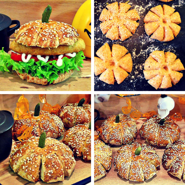 Spiced Pumpkin Patch Rolls from Fab Food 4 All