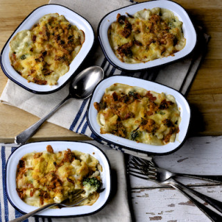 Broccoli and Chorizo Mac and Cheese Pots