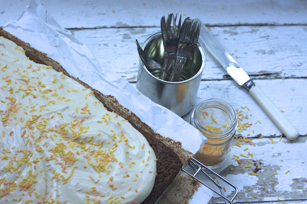 Pumpkin tray bake by Katie Bryson for Parentdish.co.uk