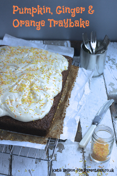 Pumpkin, Ginger and Orange Traybake by Katie Bryson for Parentdish