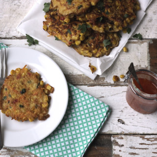 Sweetcorn, Carrot and Coriander Fritters