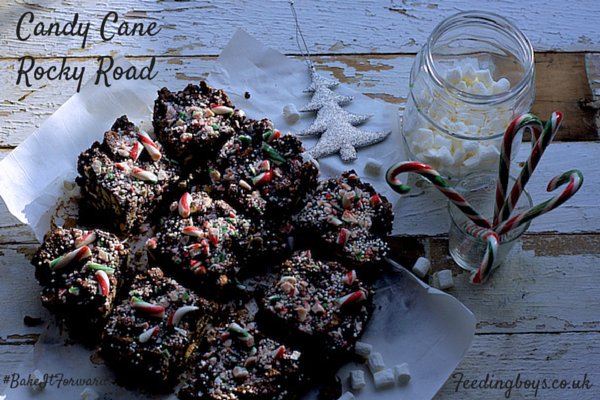 Katie Bryson's Candy Cane Rocky Road for #BakeItForward Waitrose campaign