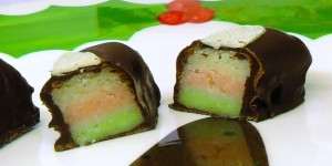Neapolitan Marzipan Chocolates from Fab Food 4 All