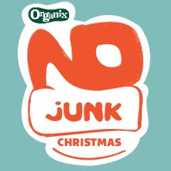 No Junk Christmas_Logo_BLUE BG_240x240px