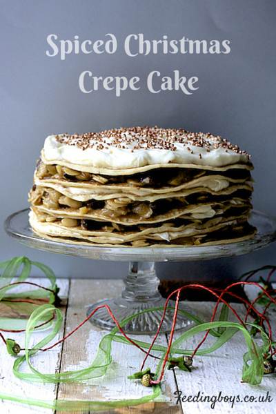 Spiced Christmas Crepe Cake on feedingboys.co.uk