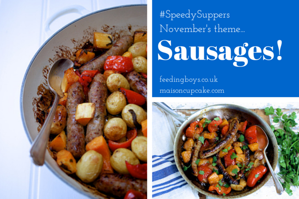 November's Speedy Suppers theme is Sausages!
