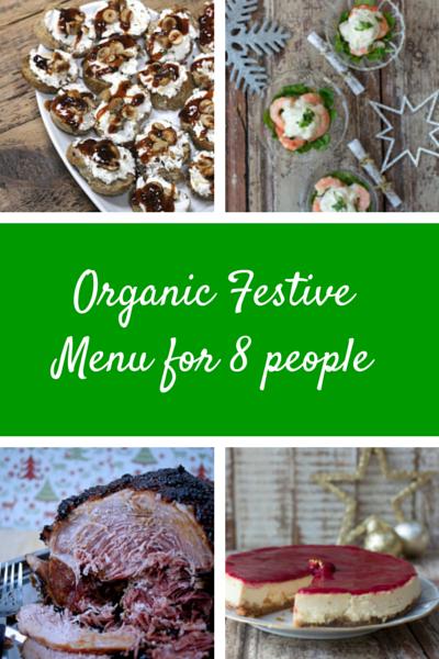 Organic FestiveMenu for 8 people