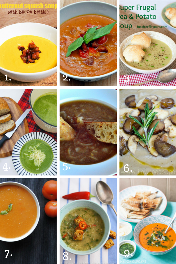 9 great soup ideas from my favourite blogs
