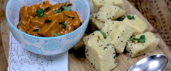 Paneer Curry with Khaman Dhokla on feedingboys.co.uk