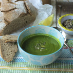 Spinach, mint and lemon soup