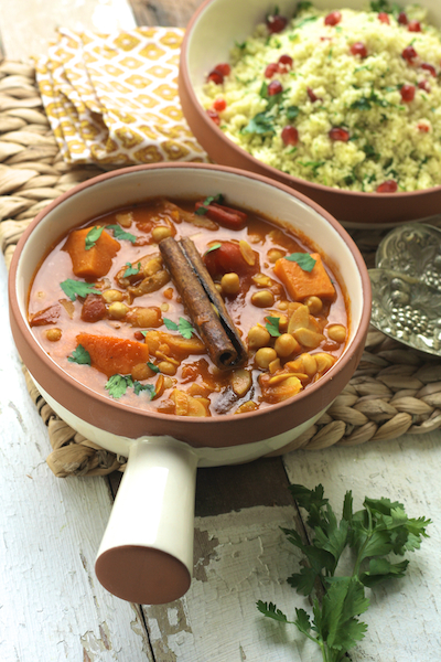 Sweet Potato and Chickpea Tagine by Katie Bryson