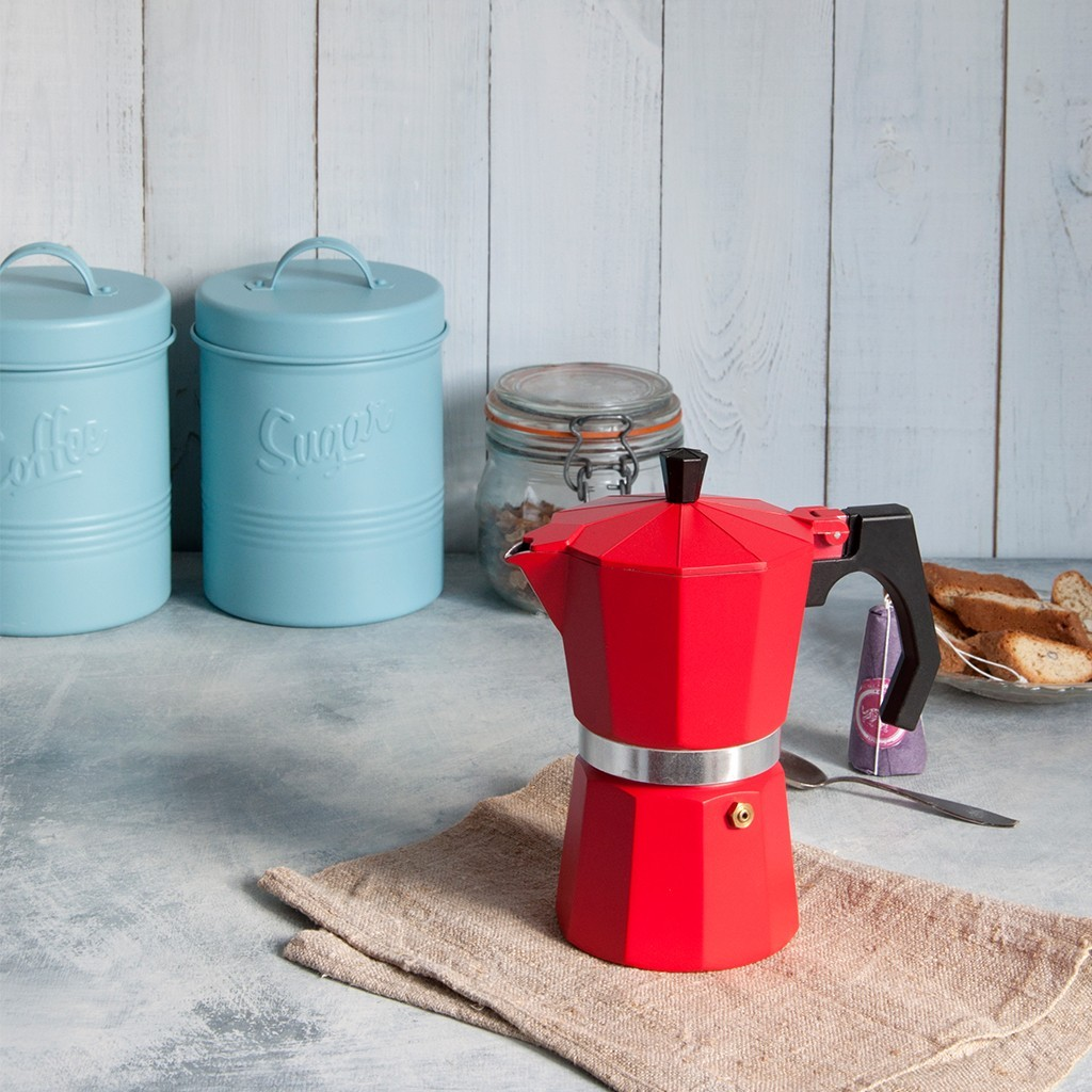 Win Classic Red Espresso Coffee Pot worth ?16.95