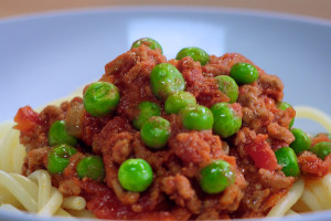 Perk up your bolognese with Birds Eye frozen peas