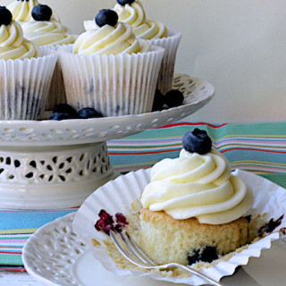 Mother's Day Lemon and Blueberry Cupcakes by Katie Bryson for Channel 4 Fairy Giving You More