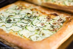 Puff-Pastry-Cheese-Courgette-Mint-Tart-KaveyEats
