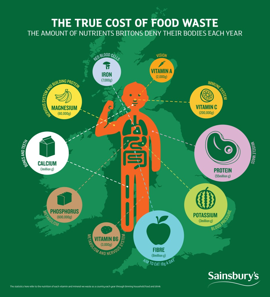 Sainsburys Infographic Nutritional Food Waste