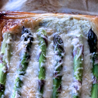 Quick and Easy Asparagus and Parmesan Tarts
