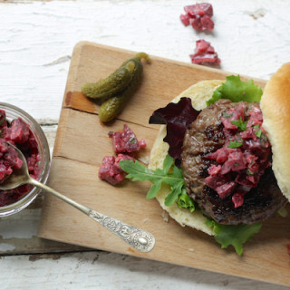 Punchy Beetroot and Horseradish Burger Relish by Katie Bryson on Feedingboys.co.uk