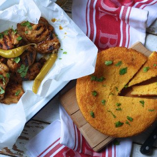 Jerk Spiced Chicken Thighs With Cornbread by Katie Bryson for Channel 4