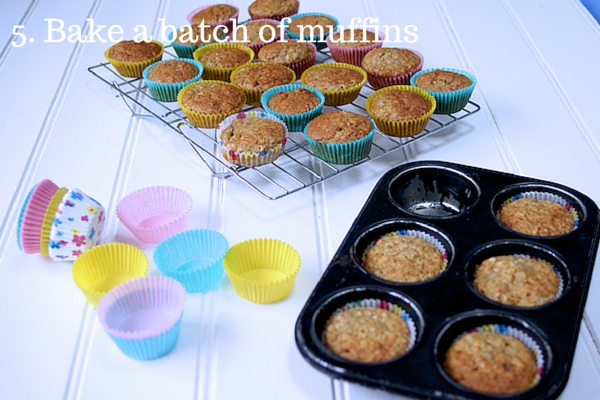 5. Bake a batch of muffins: Top 10 Tips for Feeding Toddlers on feedingboys.co.uk