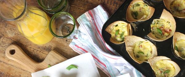 Crispy Tortilla Breakfast Bites by Katie Bryson on feedingboys.co.uk
