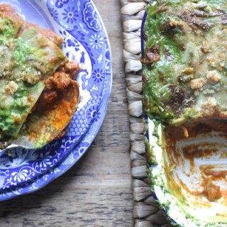 Spooky Halloween Veggie Lasagne on feedingboys.co.uk