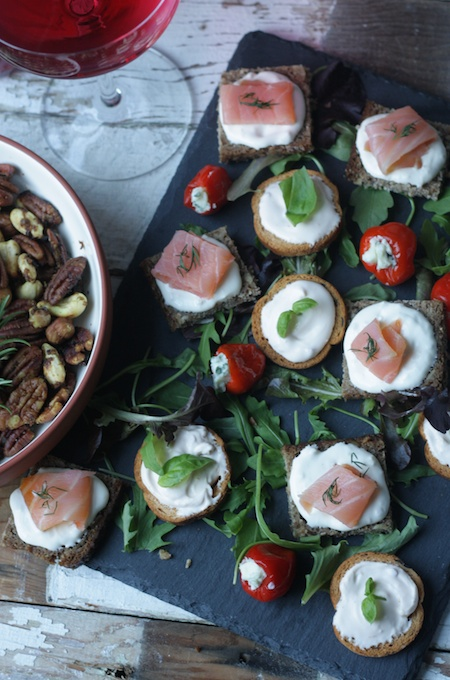Easy canapé recipes for New Year's Eve parties on feedinboys.co.uk