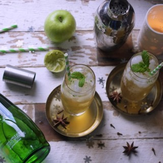 Spiced Apple Mojito cocktail recipe on feedingboys.co.uk