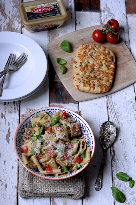 Gennaro Contaldo's Aubergine Peso Pasta for Bertolli on feedingboys.co.uk