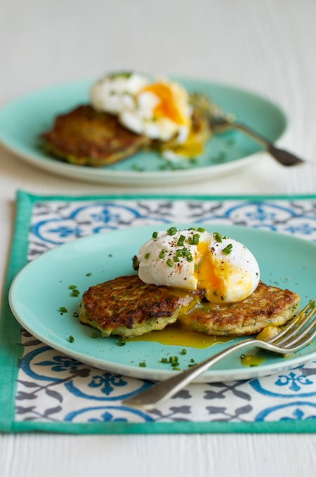 Courgette Fritters from Dannii Martin's book Hungry Healthy Happy, photography by Jacqui Melville. Published by Jacqui Small (£20)