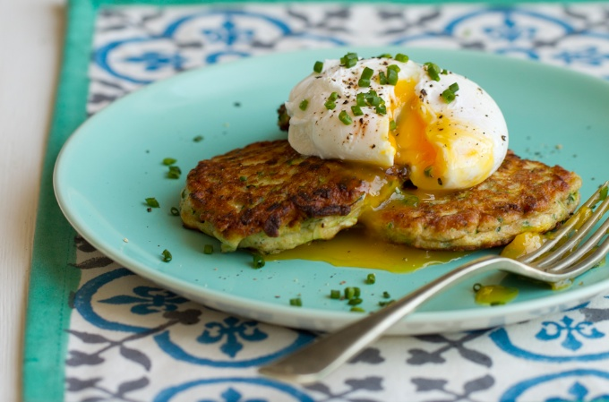Courgette Fritters from Dannii Martin's book Hungry Healthy Happy, photography by Jacqui Melville. Published by Jacqui Small (£20).