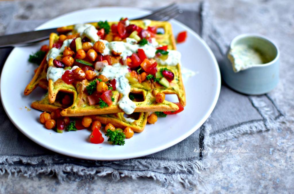 Falafel Waffles - Food To Glow