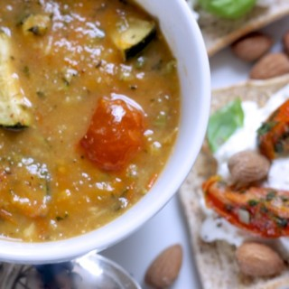 Easy and healthy Ratatouille Soup on feedingboys.co.uk