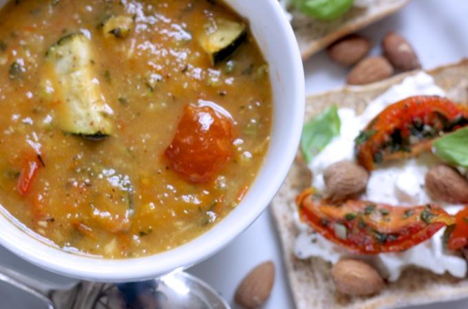 Easy and healthy Ratatouille Soup on feedingboys.co.uk