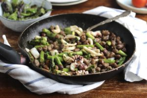 Cuttlefish, Fava Beans and Asparagus from Natural Kitchen Adventures