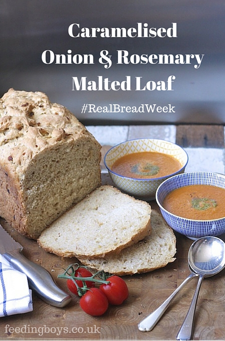 Caramelised Onion and Rosemary Loaf for #RealBreadWeek on feedingboys.co.uk