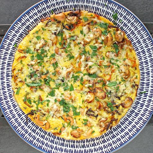 Goose egg frittata from Gluten Free Alchemist