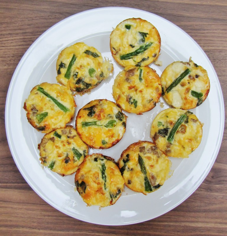 mini-crustless-quiches- from Searching for Spice
