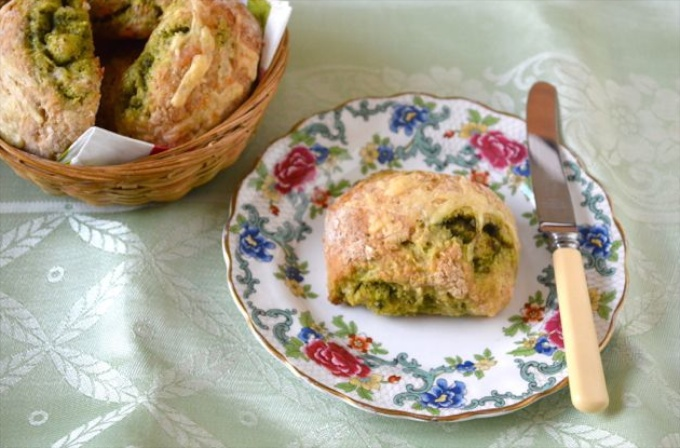 Wild Garlic Cheese Scones from Tin and Thyme