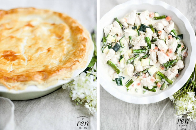 Spring Vegetable and Chicken Pie from Ren Behan