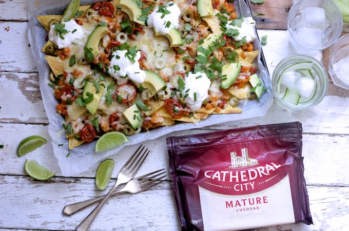 Loaded cheesy nachos on feedingboys.co.uk