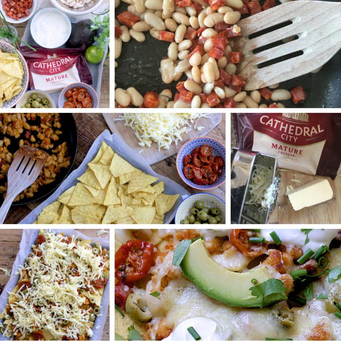 making loaded cheesy nachos on feedingboys.co.uk