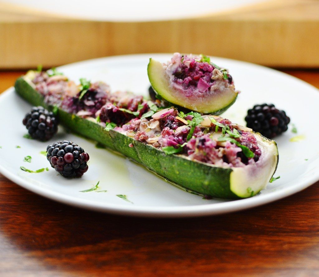 Blackberry and quinoa summer courgettes from Everyday Healthy Recipes