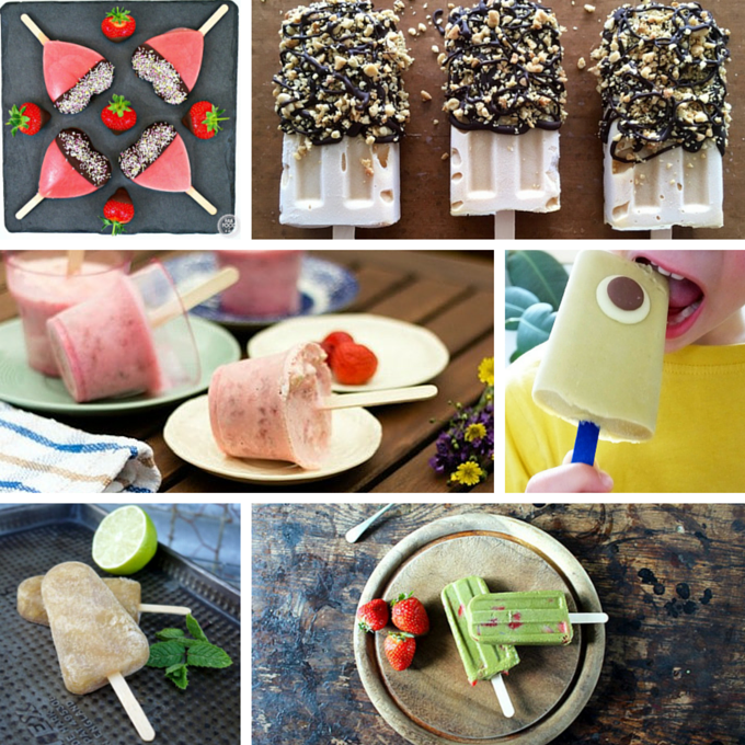 A selection of ice lollies from UK food bloggers on feedingboys.co.uk