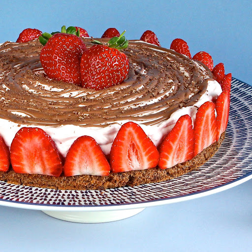 Strawberry Mousse Cake from The Gluten Free Alchemist