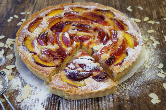 Nectarine Frangipane Tart from Tales From The Kitchen Shed