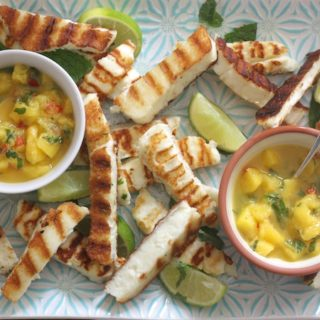 Halloumi Dippers with Mango, Mint and Chilli Salsa