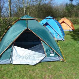 Win OLPRO Pop Tent and Sleeping Bag