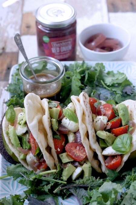 Avocado, Mozzarella, Tomato & Red Onion Wraps for Baxters Delitoppers #GetTopping campaign on feedingboys.co.uk
