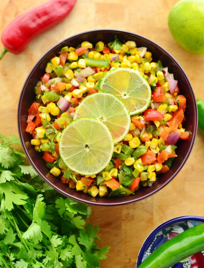 Grilled Corn and Pepper Salsa by Every Day Healthy Recipes